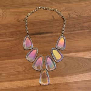 CLEAR IRIDESCENT GOLD HARLOW NECKLACE